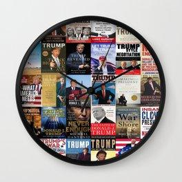 Donald Trump Books Wall Clock