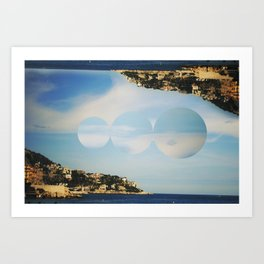 between the islands. Art Print