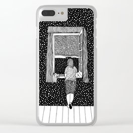 Salvador Dalí. Girl in the window. 1925 Clear iPhone Case