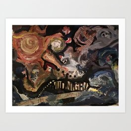 Bruised by Midnight Art Print