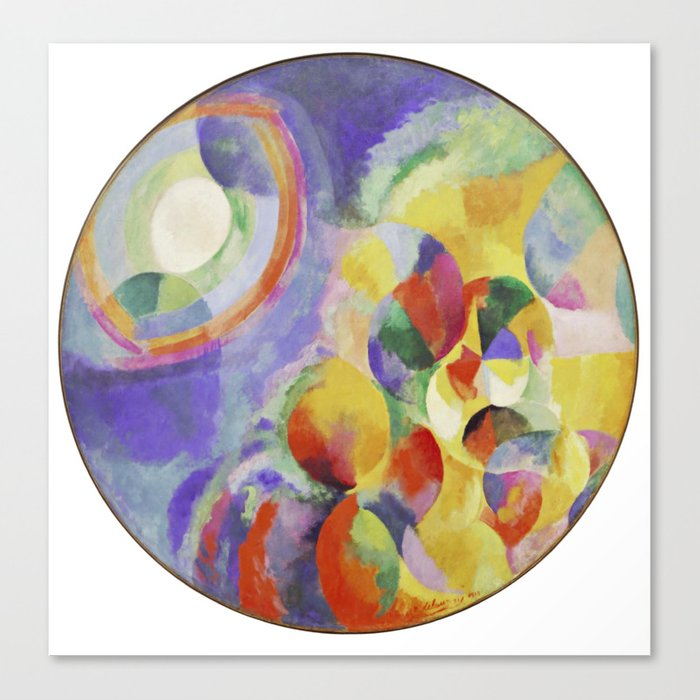 Robert Delaunay Simultaneous Contrasts Sun And Moon Canvas Print