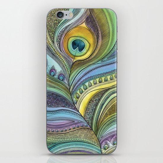 Intricate Peacock Feather iPhone & iPod Skin