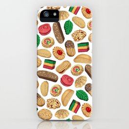 Italian Cookie Pattern iPhone Case