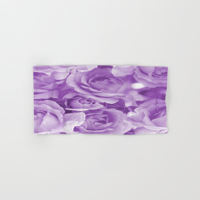 Violet Rose Bouquet For You - Valentine's Day #decor #society6 #homedecor Hand & Bath Towel