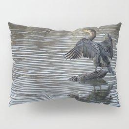 Double-Crested Cormorant Landscape Pillow Sham