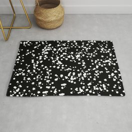 Reversed Black and White Ink Speckles Rug