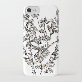 Inky Metallic Botanicals iPhone Case