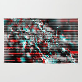 Glitch background. Computer screen error Rug