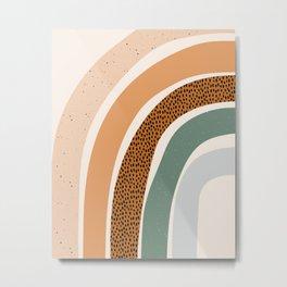 Patterned Rainbow Metal Print