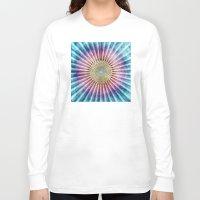 tie dye Long Sleeve T-shirts featuring Textured Mandala Tie Dye by Phil Perkins