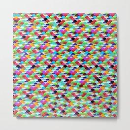 Rainbow Scallops Metal Print