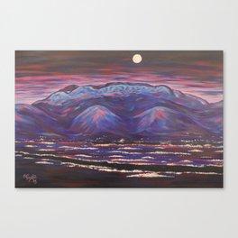 Bright Night Albuquerque Canvas Print