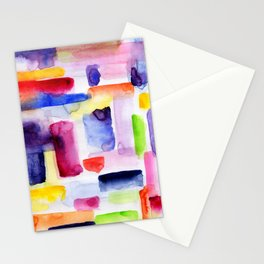 Color Block Stationery Cards