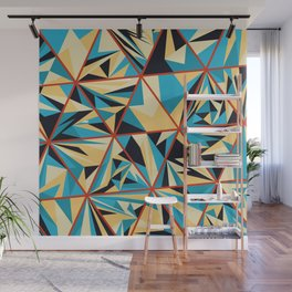 Geometric Colorful Triangles Art Pattern Wall Mural