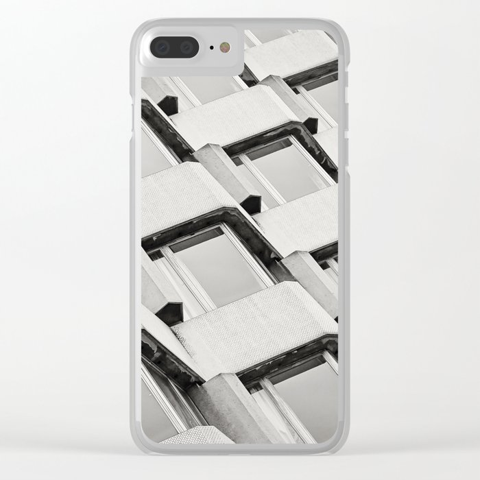 Modernistic Architectural Pattern Clear iPhone Case