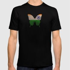 india butterfly MEDIUM Black Mens Fitted Tee