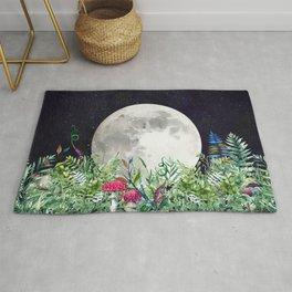 Night Garden Moon Magick Rug