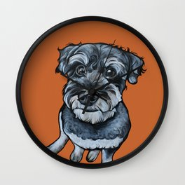 Frankie the Schnoodle Wall Clock