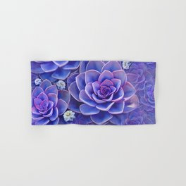 """Bouquet of pastel violet exotic succulents"" Hand & Bath Towel"
