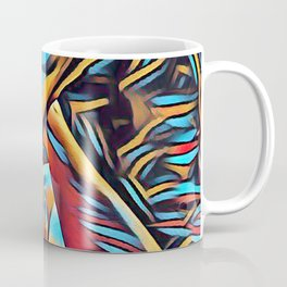 3766s-BH Abstract Leg Arch Vulva Art Feet Up Rendered Abstract by Chris Maher Coffee Mug
