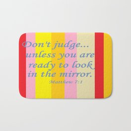 Don't Judge! Bath Mat