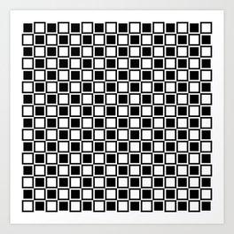Black Bold Mod Squares Art Print