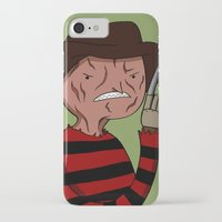 freddy krueger iPhone & iPod Cases featuring Adventure Time with Freddy Krueger by MrDamnKids