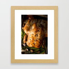 Roasted Whole Chicken  Framed Art Print