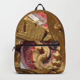 Buddha Head Illustration Design gold Backpack