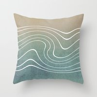 aelwen Throw Pillows featuring Wave by Aelwen