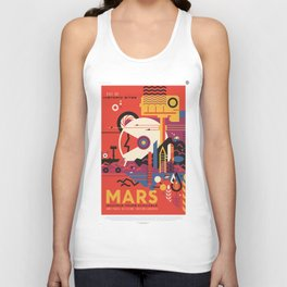 Mars Tour : Space Galaxy Unisex Tank Top
