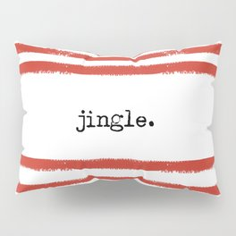 red stripes-jingle Pillow Sham