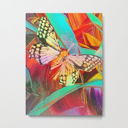 My New Butterfly by Nico Bielow Metal Print