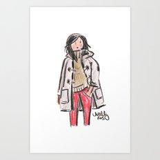 Duffle Coat Art Print