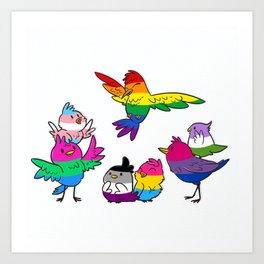 Birdies Pride Art Print