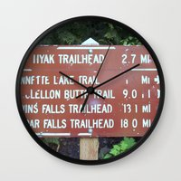 miles davis Wall Clocks featuring Trail Miles by NoelleB