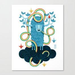 Rainbow Yak Canvas Print
