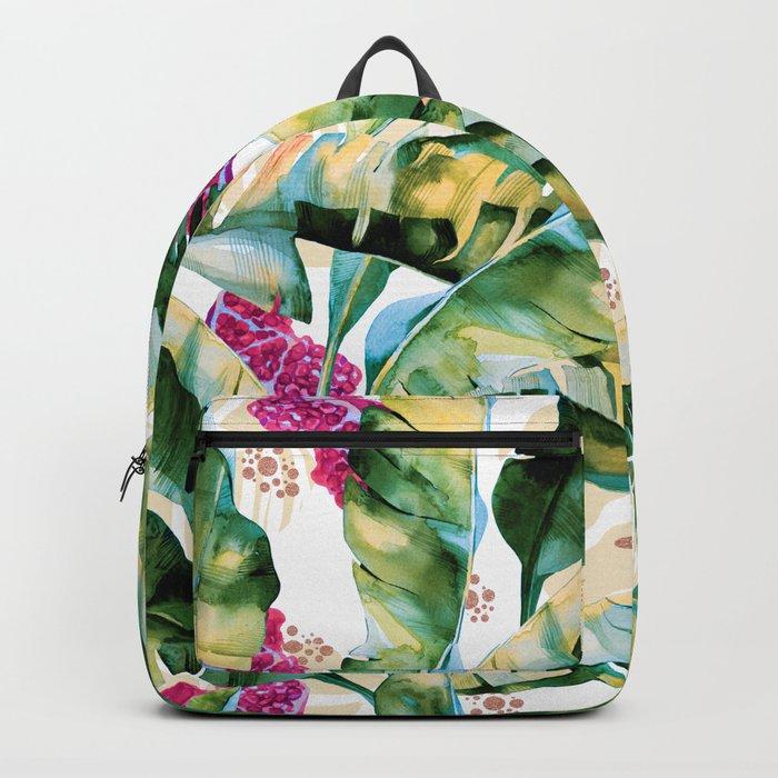 Banana leaf & Pomegranate II Backpack