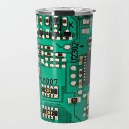 Electronic circuit board with processor Travel Mug