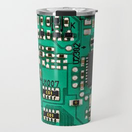 Electronic circuit board with processor Travel Mug