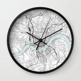 Cincinnati City Map Wall Clock