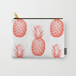 Coral Pineapple Carry-All Pouch