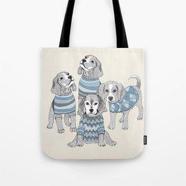 Blue Beagles Tote Bag