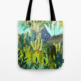 Wild Jungle || #illustration #painting Tote Bag