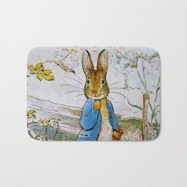 Peter Rabbit vintage Beatrix Potter illustration Bath Mat