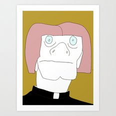 Albino Priest Art Print