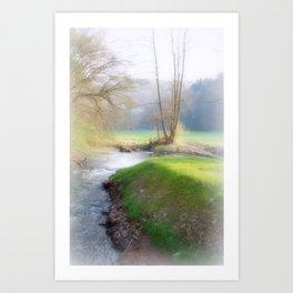 Running Water Art Print