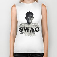 tyler the creator Biker Tanks featuring Tyler The Creator SWAG by Misadventures