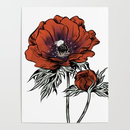 White as Milk, Red as Blood: Flower Poster