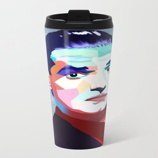 Portrait of Hans Holzel (Falco) Metal Travel Mug